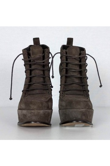 Elizabeth and James Taupe Suede Lace Boots Image 1
