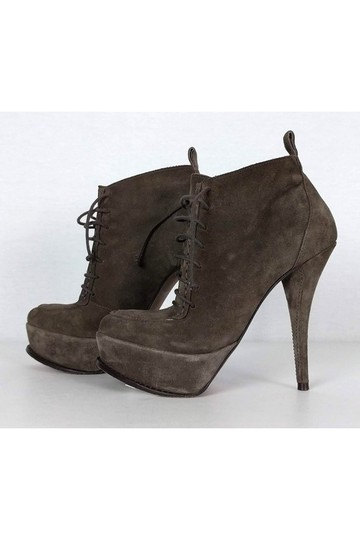 Elizabeth and James Taupe Suede Lace Boots Image 2