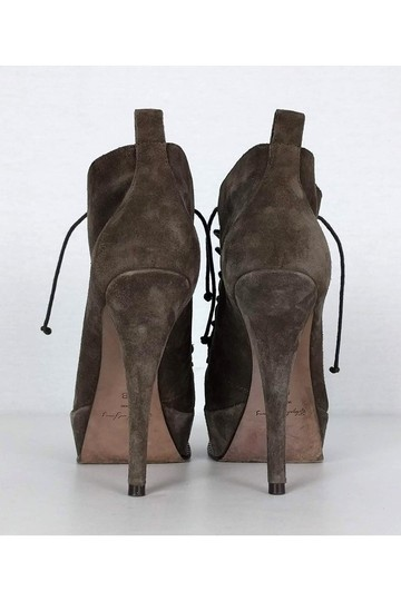 Elizabeth and James Taupe Suede Lace Boots Image 3