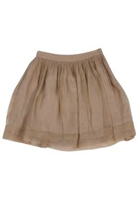 Elizabeth and James Short Nude Pleated Skirt tan