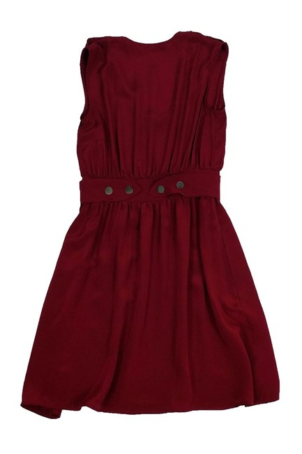 Geren Ford short dress Silk Maroon With Belted Waist on Tradesy Image 1