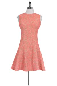 Shoshanna short dress pink Neon And Grey Flutter Hem on Tradesy