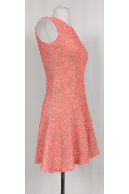 Shoshanna short dress pink Neon And Grey Flutter Hem on Tradesy Image 1