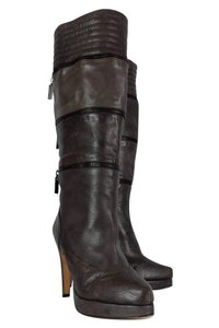 Geren Ford Leather Stone Tall brown Boots