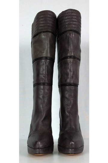 Geren Ford Leather Stone Tall brown Boots Image 1
