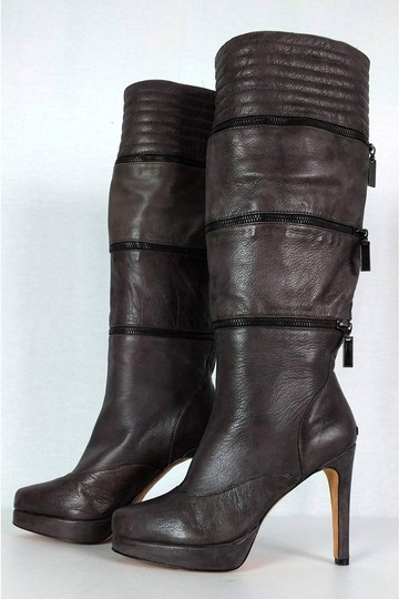 Geren Ford Leather Stone Tall brown Boots Image 2