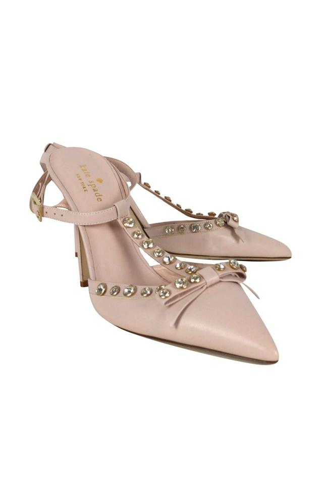 2ee4fbd6630 Kate Spade Lydia Studded Leather Pink Pumps Image 0 ...