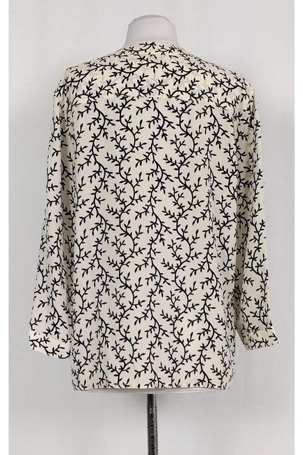 Chanel Ivory With Leaf Pattern Top cream Image 2