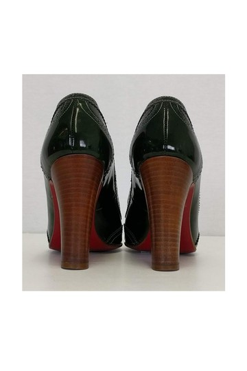Christian Louboutin Dark Patent Leather Green Pumps Image 3