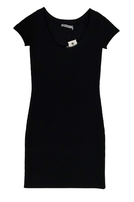 Alexander Wang short dress Black Ribbed Bodycon on Tradesy Image 2