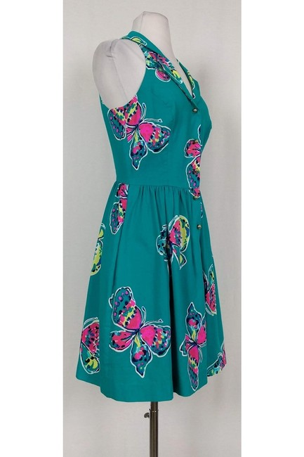Lilly Pulitzer short dress Bright Teal Butterfly on Tradesy Image 1
