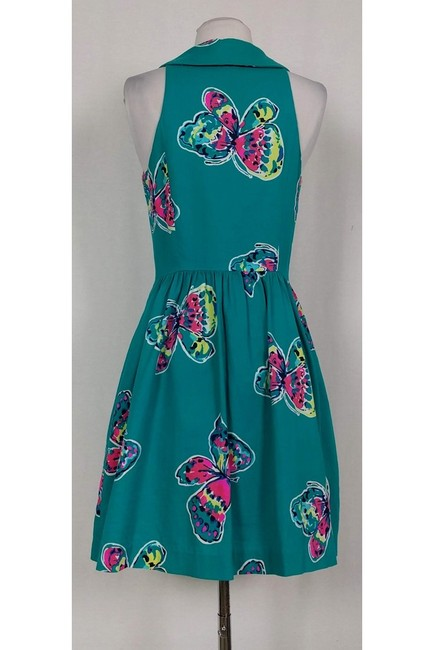 Lilly Pulitzer short dress Bright Teal Butterfly on Tradesy Image 2