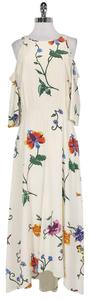 Maxi Dress by Tibi Cream And Floral Cold Shoulder Maxi
