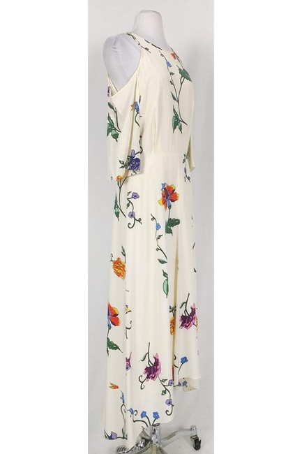 Maxi Dress by Tibi Cream And Floral Cold Shoulder Maxi Image 1