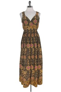 Maxi Dress by Tracy Reese Plenty By Tan Brown Floral Maxi