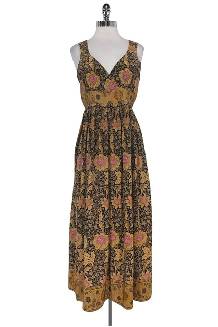 Maxi Dress by Tracy Reese Plenty By Tan Brown Floral Maxi Image 0