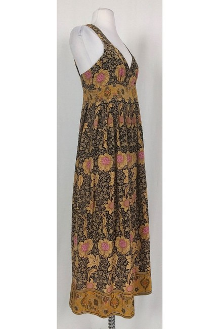 Maxi Dress by Tracy Reese Plenty By Tan Brown Floral Maxi Image 1