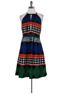 Trina Turk short dress black Multicolor Printed on Tradesy