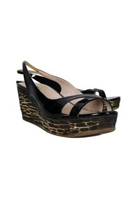 Miu Miu Patent Leather Black Wedges