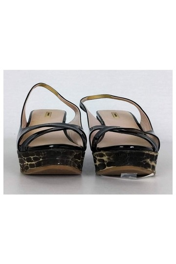 Miu Miu Patent Leather Black Wedges Image 1