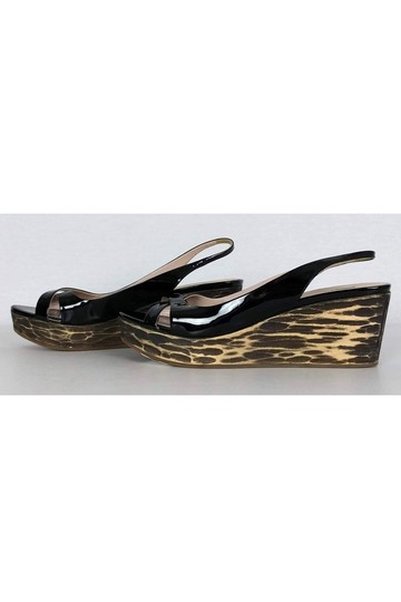 Miu Miu Patent Leather Black Wedges Image 2