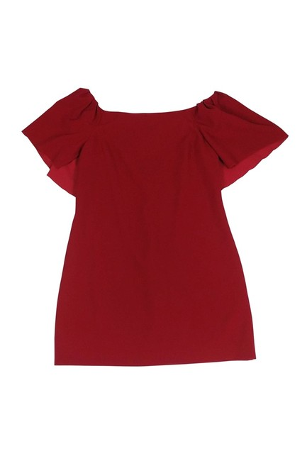 Trina Turk short dress red Off The Shoulder on Tradesy Image 0