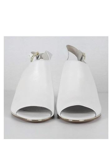 Kenneth Cole Lovelle Lucite Mule White Pumps Image 1
