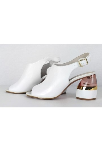 Kenneth Cole Lovelle Lucite Mule White Pumps Image 2