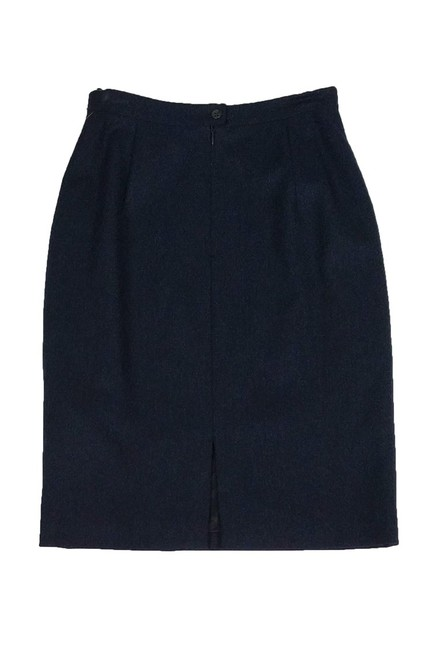 Burberry Navy Pencil Skirt Image 1