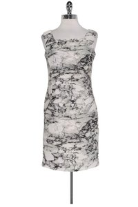 D. Exterior short dress White Grey Marble Print on Tradesy