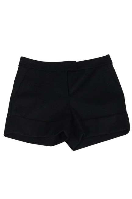 Rachel Zoe Wool Cuffed Shorts Black Image 0