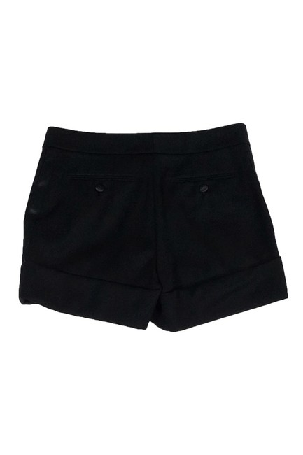 Rachel Zoe Wool Cuffed Shorts Black Image 1