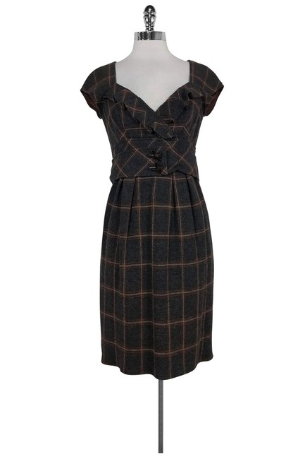 Nanette Lepore short dress brown Grey Plaid Wool on Tradesy Image 0