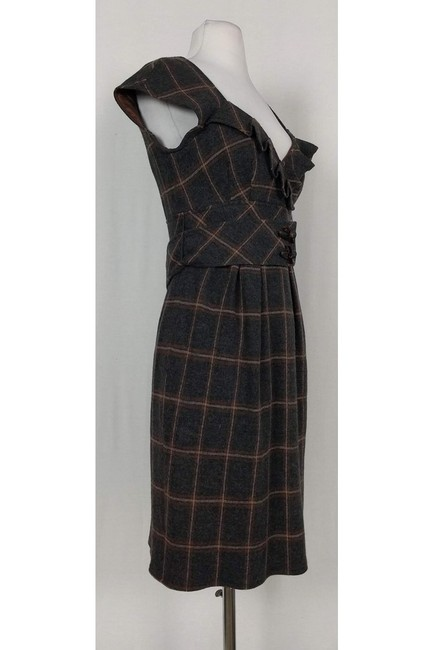 Nanette Lepore short dress brown Grey Plaid Wool on Tradesy Image 1
