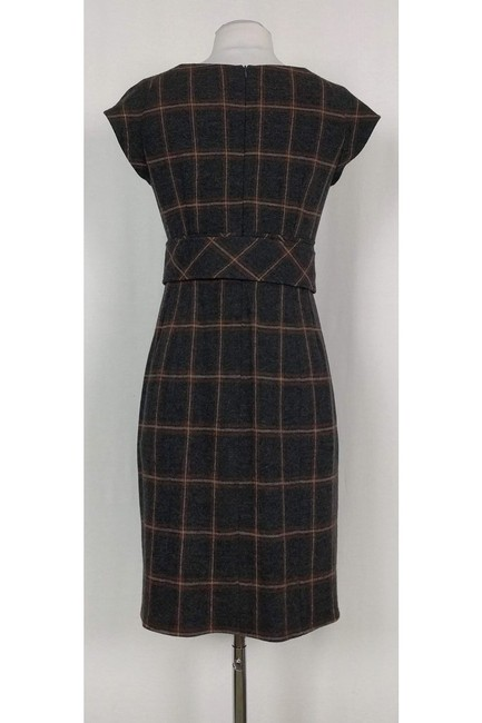 Nanette Lepore short dress brown Grey Plaid Wool on Tradesy Image 2