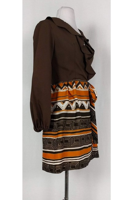 Gay Gibson short dress Brown Vintage Patterned on Tradesy Image 1