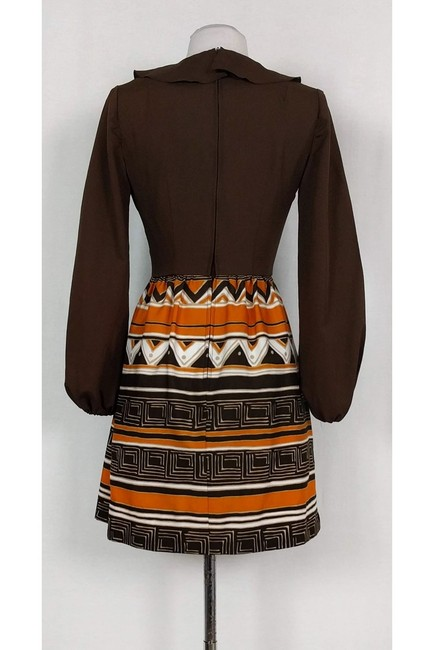Gay Gibson short dress Brown Vintage Patterned on Tradesy Image 2