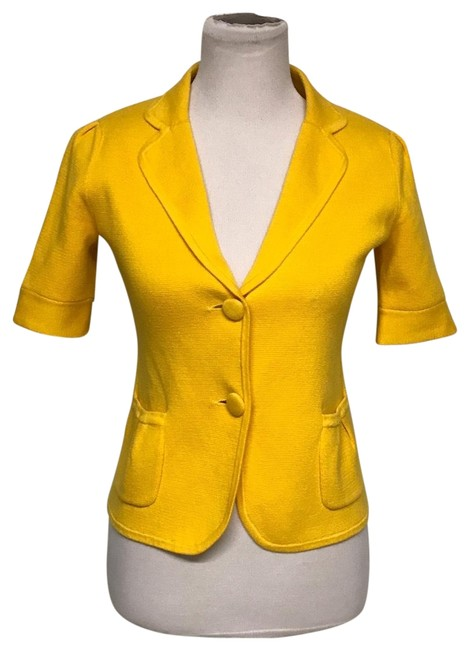 Preload https://img-static.tradesy.com/item/25213839/jcrew-yellow-cotton-blazer-size-2-xs-0-1-650-650.jpg
