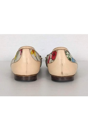 Gucci White Floral Bamboo Flats Image 3