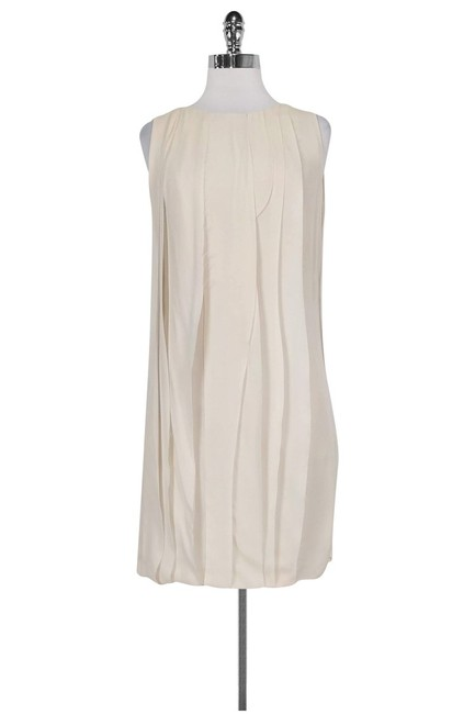 Item - Cream Short Casual Dress Size 4 (S)