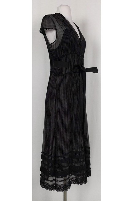 Kay Unger short dress Black Polka Dot Midi on Tradesy Image 1