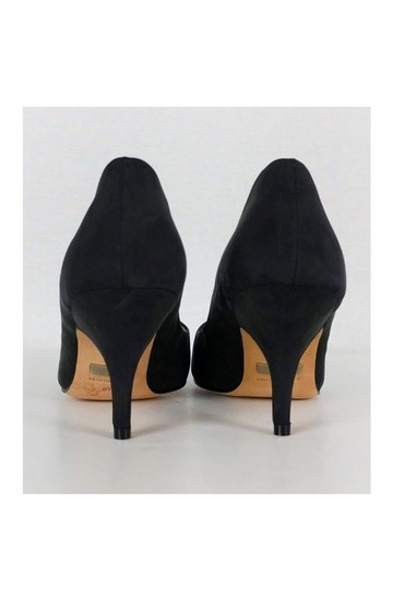 Badgley Mischka Fabric Pointed Black Pumps Image 3