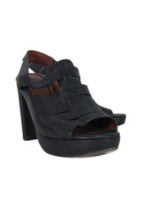 See by Chloé Leather Peep Black Pumps