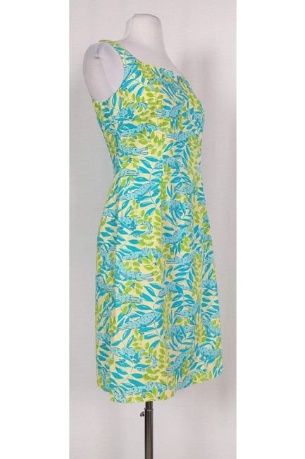 Lilly Pulitzer short dress Green Multicolor Gator Print on Tradesy Image 1