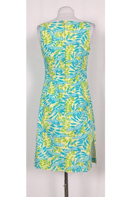 Lilly Pulitzer short dress Green Multicolor Gator Print on Tradesy Image 2