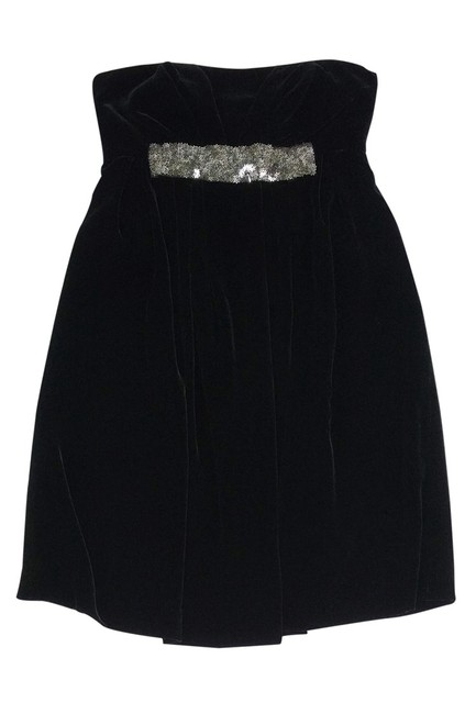 Vera Wang short dress Black Lavender Label Velvet on Tradesy Image 2