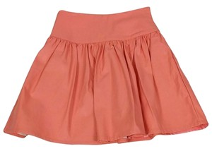 French Connection Faux Leather Skirt Orange