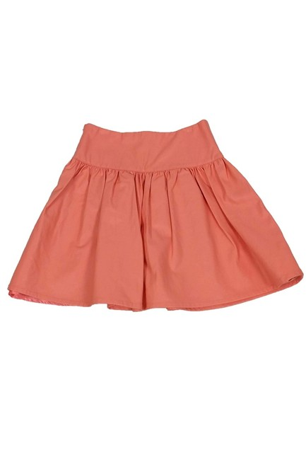 French Connection Faux Leather Skirt Orange Image 1