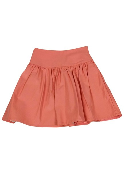 French Connection Faux Leather Skirt Orange Image 2