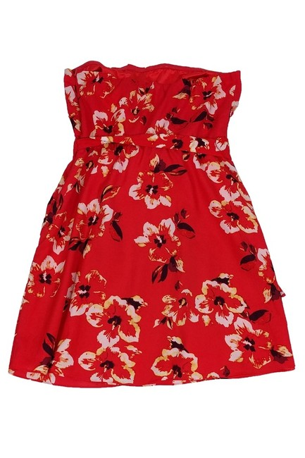Rebecca Taylor short dress red Strapless Floral on Tradesy Image 1